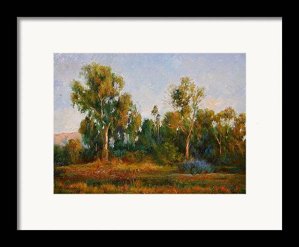 Landscape Framed Print featuring the painting Ulistac Natural Park C by Kelvin Lei