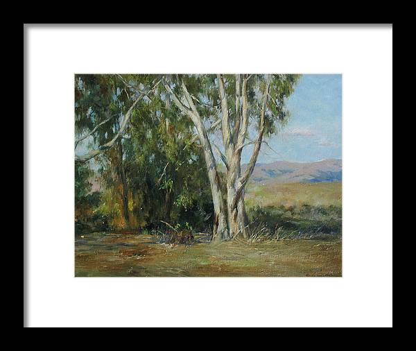 Landscape Framed Print featuring the painting Ulistac Natural Park D by Kelvin Lei