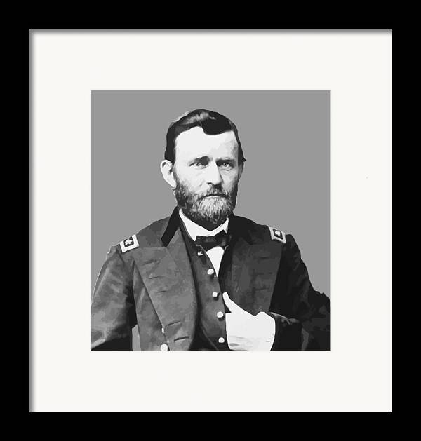Us Grant Framed Print featuring the painting Ulysses S Grant by War Is Hell Store