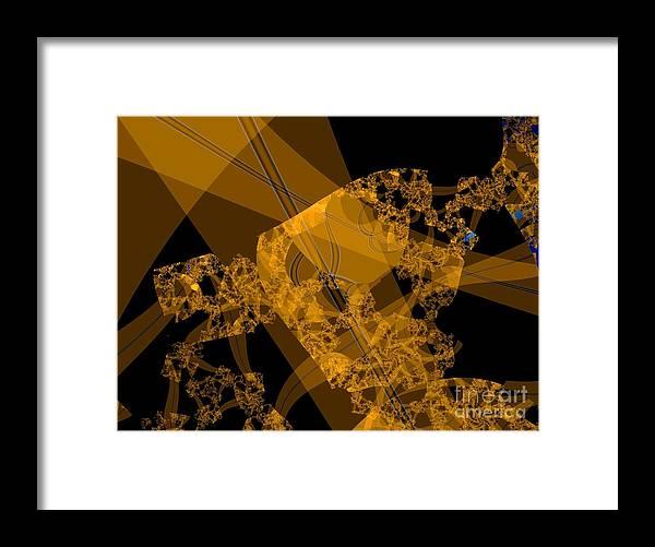 Fractal Image Framed Print featuring the digital art Umber by Ron Bissett