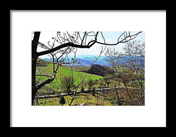 Umbria Framed Print featuring the photograph Umbria Mountains by HazelPhoto