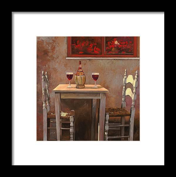 Chianti Framed Print featuring the painting un fiasco di Chianti by Guido Borelli