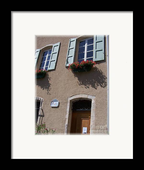 House Framed Print featuring the photograph Un Maison by Nadine Rippelmeyer
