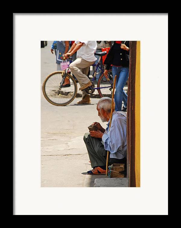 Beggar Framed Print featuring the photograph Un Peso Por Favor by Skip Hunt
