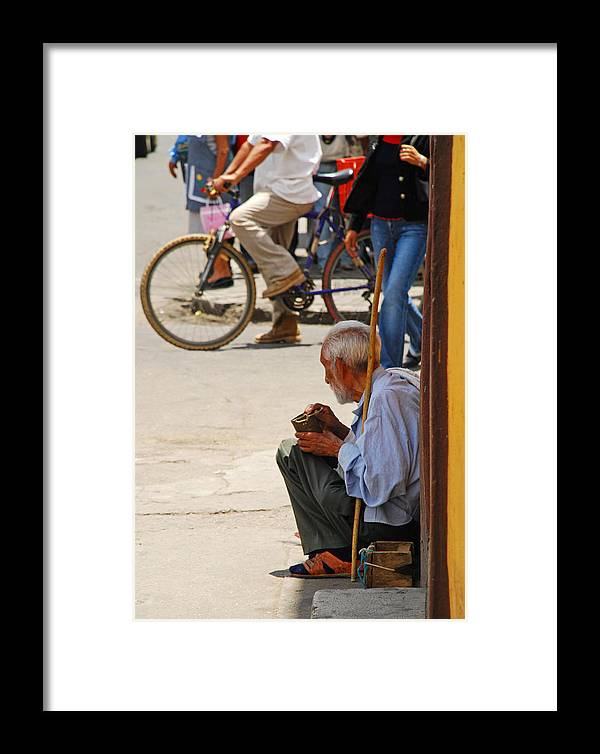 Beggar Framed Print featuring the photograph Un Peso Por Favor by Skip Hunt
