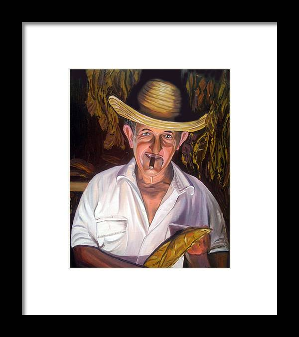 Cuban Art Framed Print featuring the painting Uncle Frank by Jose Manuel Abraham
