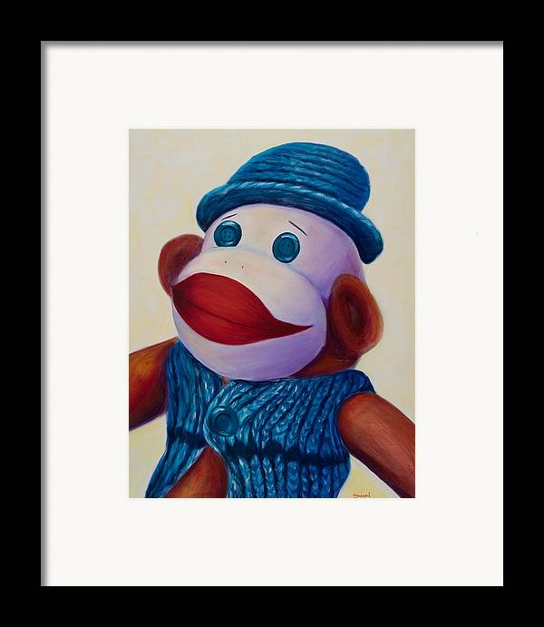 Children Framed Print featuring the painting Uncle Frank by Shannon Grissom