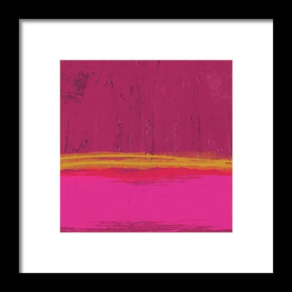 Abstract Framed Print featuring the mixed media Undaunted Pink Abstract- Art by Linda Woods by Linda Woods
