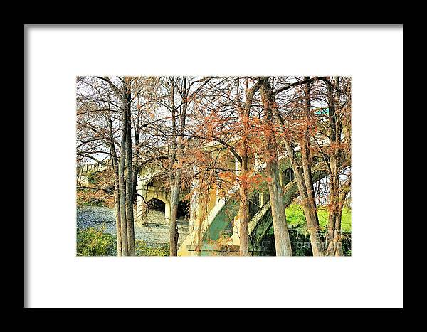 Landscape Framed Print featuring the photograph Under A Bridge by Jeff Downs