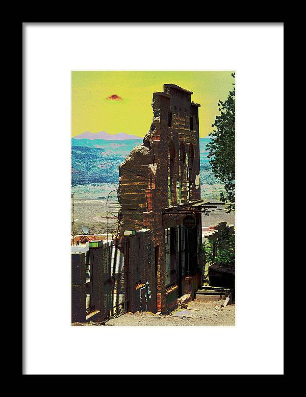 Alien Framed Print featuring the photograph Under an Alien Sky by Richard Henne