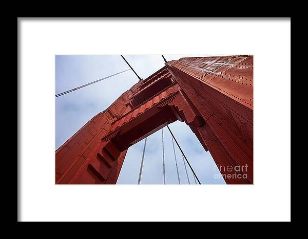 Golden Gate Bridge Framed Print featuring the photograph Under An Icon by Steve Ondrus