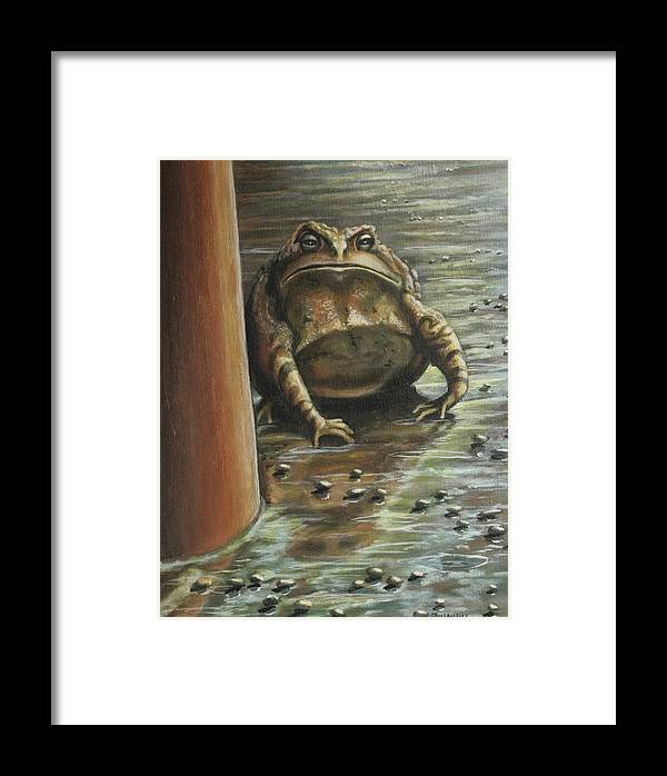 Toad Framed Print featuring the painting Under The Boardwalk by Colleen Maas-Pastore
