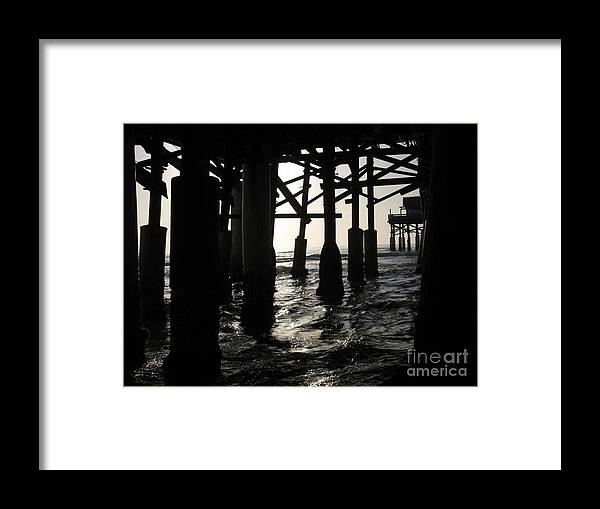 Florida Framed Print featuring the photograph Under The Boardwalk by Elizabeth Donald
