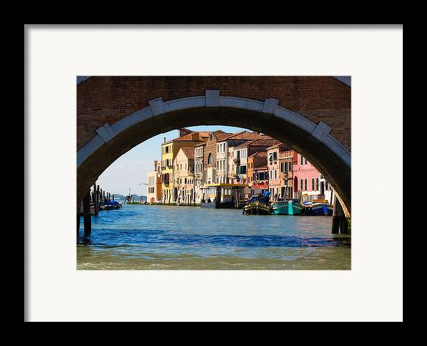 Seascape Framed Print featuring the photograph Under The Bridge by Carl Jackson