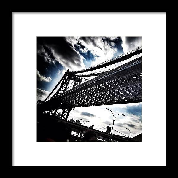 Framed Print featuring the photograph Under The Bridge by Christopher Leon