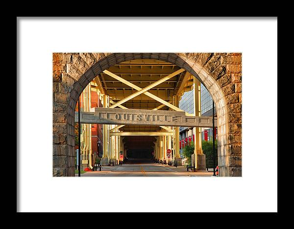 Road Framed Print featuring the photograph Under The Bridge II by Steven Ainsworth