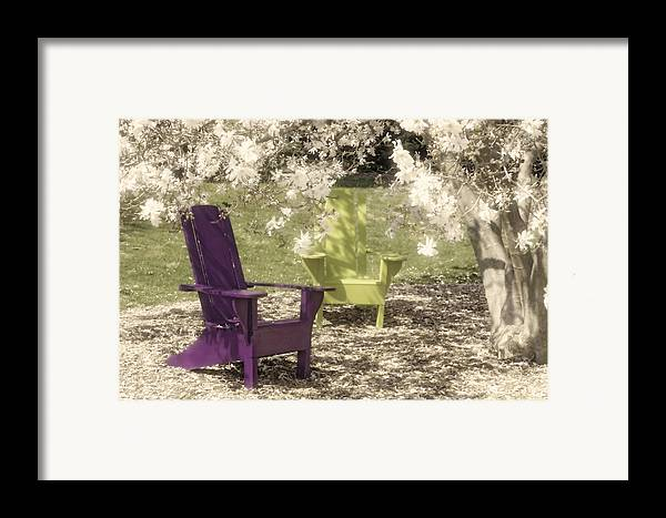 Magnolia Framed Print featuring the photograph Under The Magnolia Tree by Tom Mc Nemar