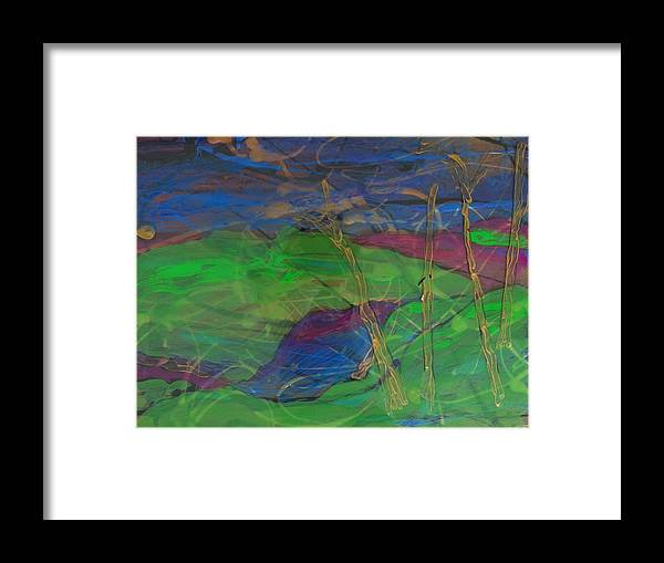 Abstract Framed Print featuring the painting Under The Sea by Gail Eisenfeld
