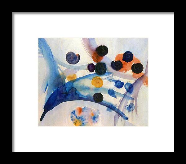 Abstract Framed Print featuring the painting Under the Sea by Steve Karol
