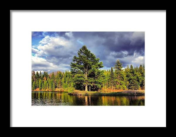 River Framed Print featuring the photograph Under The Shade Tree by Gary Smith