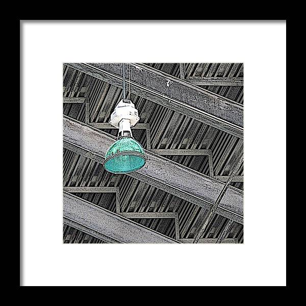 Light Framed Print featuring the digital art Under The Stairs by Ben Freeman