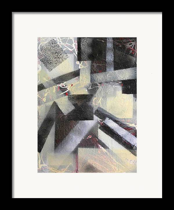 Abstract Framed Print featuring the painting undercover N1 by Evguenia Men