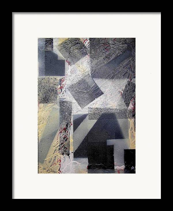 Abstract Framed Print featuring the painting undercover N2 by Evguenia Men