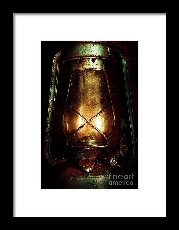 Mining Framed Print featuring the photograph Underground Mining Lamp by Jorgo Photography - Wall Art Gallery