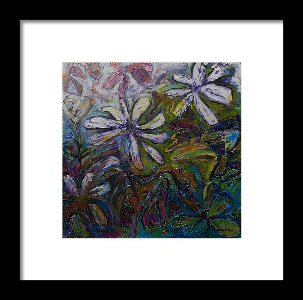 Flowers Framed Print featuring the painting Undergrowth by Jeremy Holton