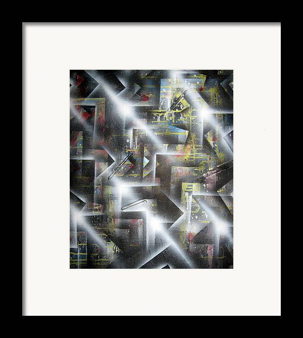 Paintbrushed Framed Print featuring the painting Undergrowth by Leigh Odom
