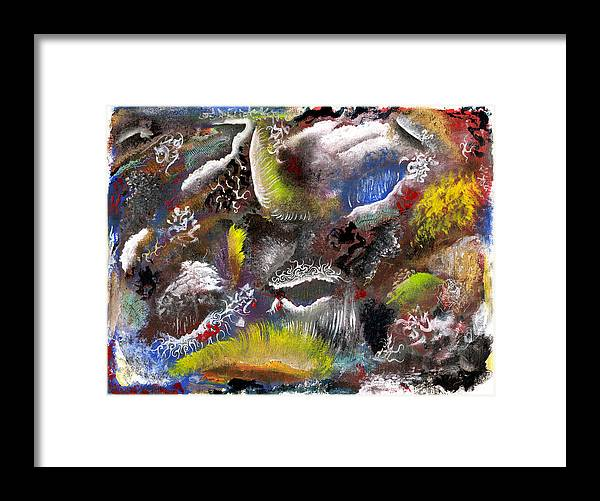 Depth Framed Print featuring the mixed media Underlying Theme - Portal by Nathaniel Hoffman