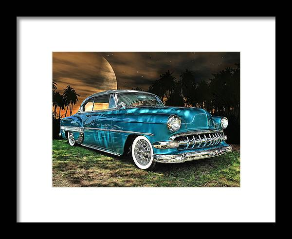 1954 Framed Print featuring the digital art Underneath The Surrounding Glow Of The Moon .... by Rat Rod Studios
