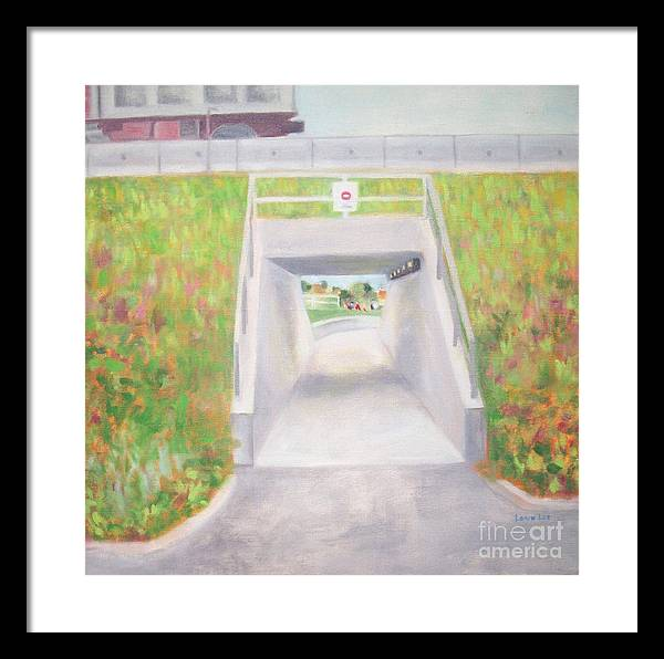 Plein Air Framed Print featuring the painting Underpass by Loren Lee