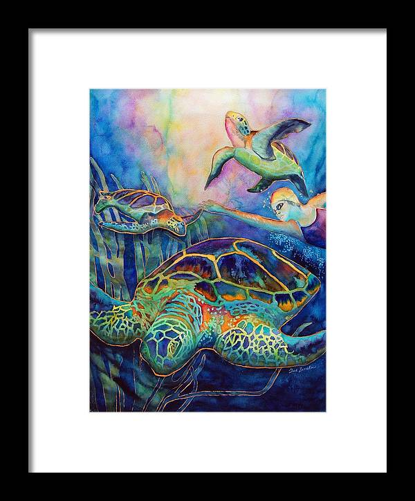 Animal Framed Print featuring the painting Undersea Adventure by Gail Zavala