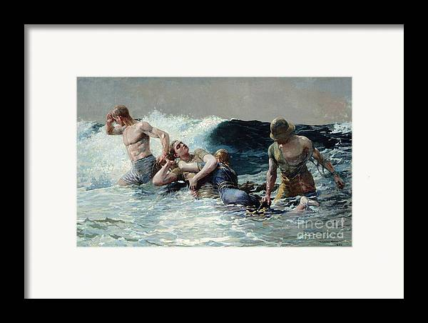 Undertow Framed Print featuring the painting Undertow by Winslow Homer