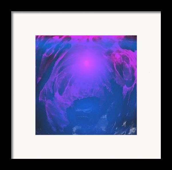 Water.underwater View.sun.colrs.blue.rose.grey.cold. Framed Print featuring the digital art Underwater Kingdom by Dr Loifer Vladimir
