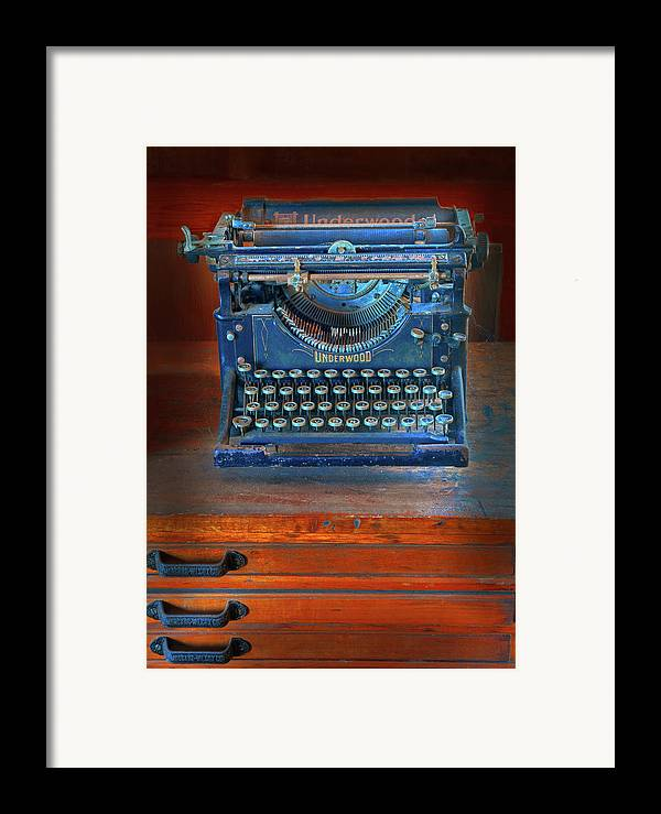 Underwood Typewriter Framed Print featuring the photograph Underwood Typewriter by Dave Mills