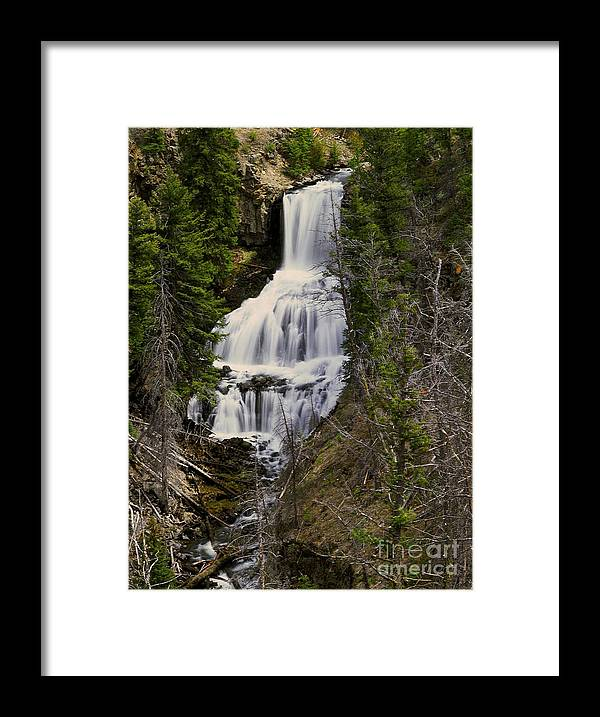 Waterfall Framed Print featuring the photograph Undine Falls on Lava Creek by Dennis Hammer