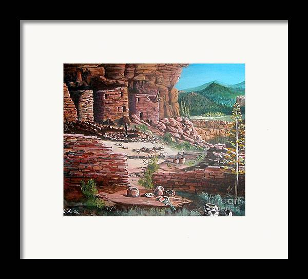 Native America Framed Print featuring the painting Undiscovered by John Wise