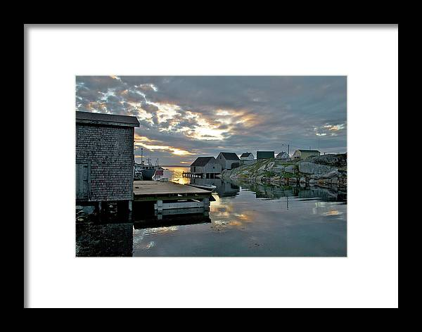 Nova Scotia Framed Print featuring the photograph Unesco World Heritage Site - Peggy's Cove - Nova Scotia by Andre Distel