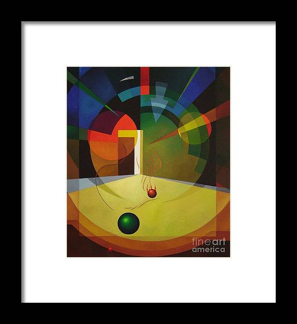 Abstract Framed Print featuring the painting Unexpected Show by Alberto DAssumpcao