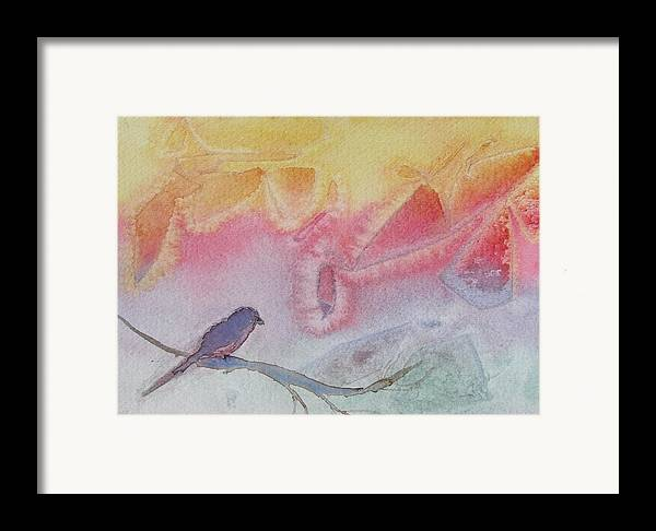 Birds Framed Print featuring the painting Unexpected Visitor by Dottie Briggs