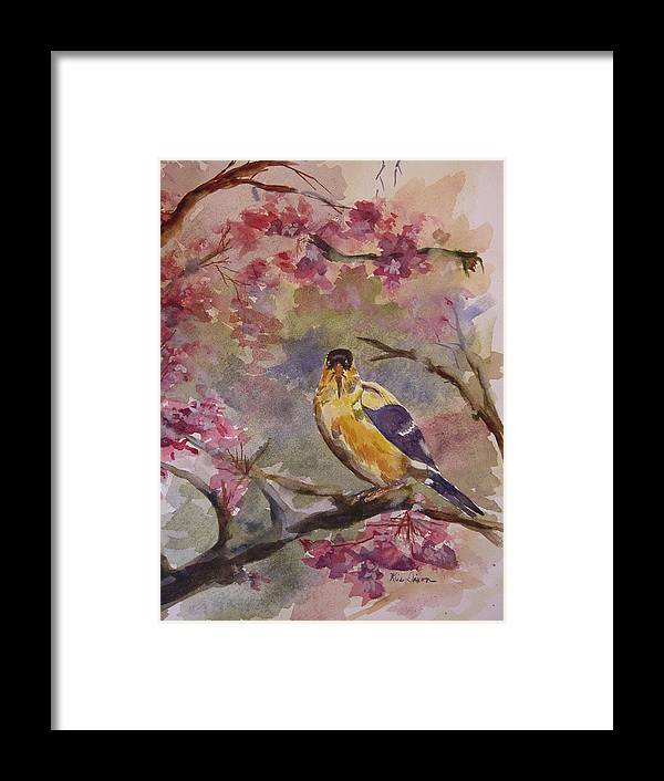 Landscape Framed Print featuring the painting Unexpected Visitor by Kris Dixon