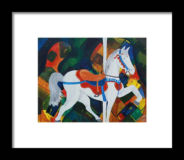 Horse Framed Print featuring the painting Unforgettable Magic by Tammy Dunn