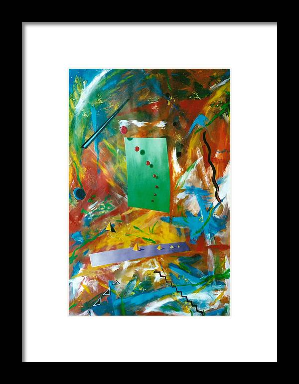 Math Framed Print featuring the painting Unified Theory by Arnold Isbister
