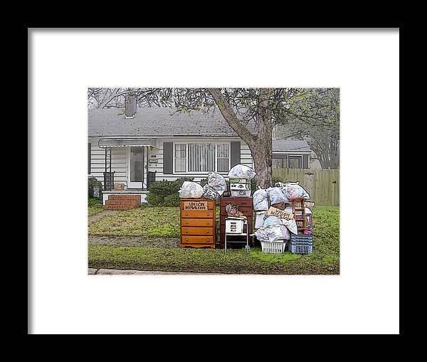 Social Comment Framed Print featuring the photograph Union Mission by Robert Boyette