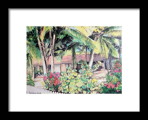 Landscape Framed Print featuring the painting Union by Muriel Dolemieux