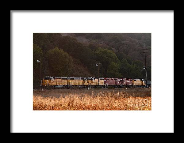 Transportation Framed Print featuring the photograph Union Pacific Locomotive Trains . 7d10551 by Wingsdomain Art and Photography