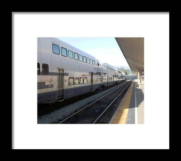 Train Framed Print featuring the photograph Union Station 0617 by Edward Ruth