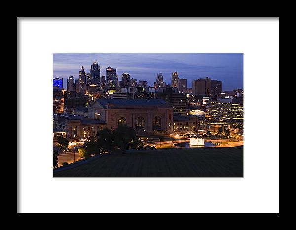 Union Station Framed Print featuring the photograph Union Station Kansas City by Chad Davis
